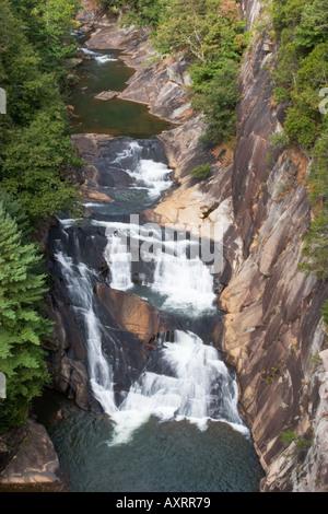 Cascate lungo il fiume Tallulah Tallulah a gola nel Nord della Georgia, Stati Uniti d'America Foto Stock