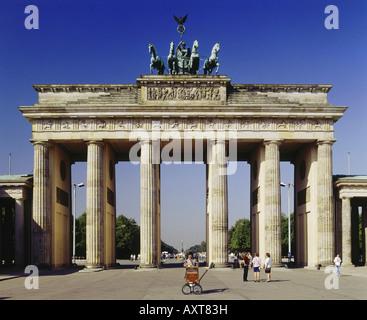 Geografia / viaggio, Germania, Berlino, porta di Brandeburgo, , Foto Stock