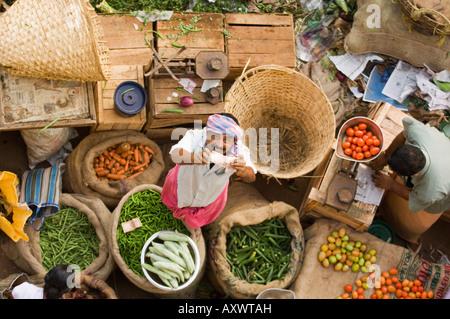 Mercato, Trivandrum, Kerala, India Foto Stock