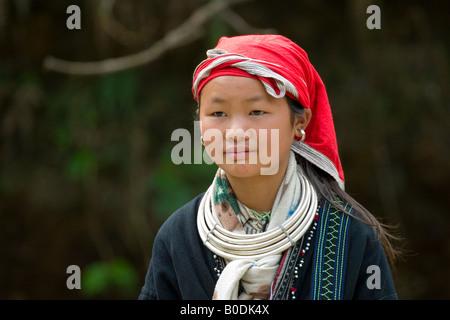 Red Zao, SAPA, Vietnam Foto Stock