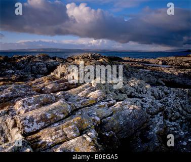 Cercando di Skye da Traigh, Arisaig, Mallaig, Scotland, Regno Unito