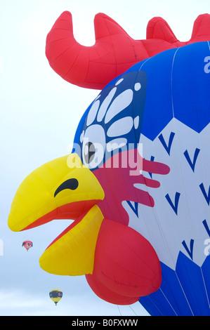 Mongolfiera e sport aerei internazionali di Ballon Festival in Chateau d'Oex Vaud svizzera Foto Stock