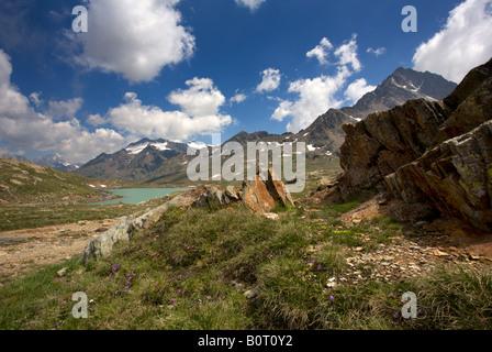 Tre Signori picchi in corrispondenza del vertice del Passo Gavia, Alpi Italiane