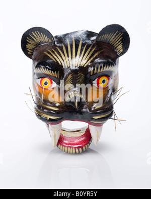 Gatto nero carta maschera mache dal Perù Foto Stock