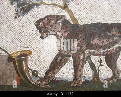 Mosaico, belle arti, mondo antico impero romano primo secolo D.C. Napoli Museo Archeologico Foto Stock