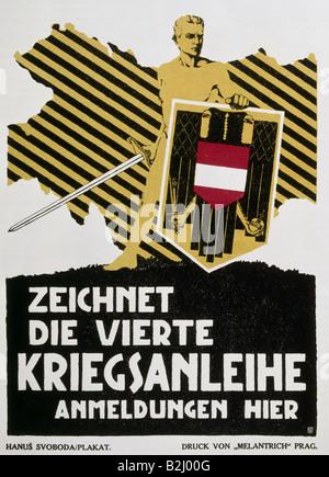 "Eventi, Prima Guerra Mondiale / WWI, propaganda poster ""Zeichnet die vierte Kriegsanleihe"" (Acquista la quarta guerra Foto Stock"