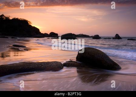 Agonda Beach, a sud di Goa, India, Asia Foto Stock