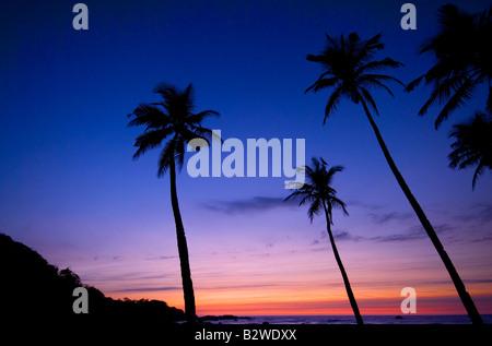 Tramonto a Agonda Beach, a sud di Goa, India, Asia Foto Stock