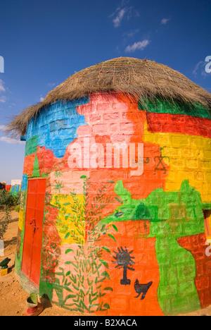 Colonia di artisti, grande deserto di Thar, vicino a Jaisalmer, Rajasthan, India, subcontinente, Asia Foto Stock