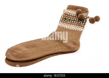 Coppia di lana Calze Invernali Foto Stock