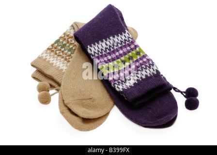 Due paia di calze di lana Foto Stock