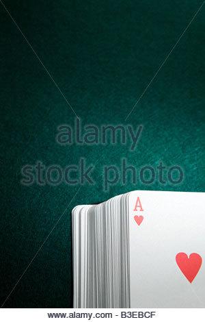Ace in un pacchetto di schede Foto Stock