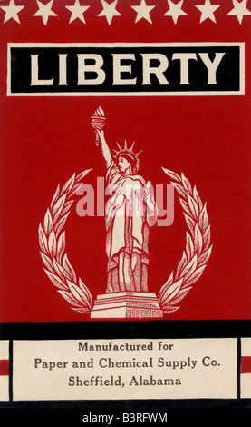 Liberty etichetta del braccio Foto Stock