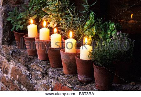 Illuminare giardino con candele grande quadro a led in bambù con