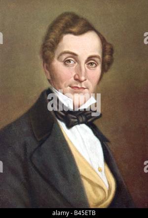 Lortzing, Albert, 23.10.1801 - 21.01.1851, tedesco composr, ritratto, stampa del XIX secolo , Additional-Rights Foto Stock