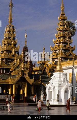 Myanmar Birmania Yangon Shwedagon pagoda Foto Stock