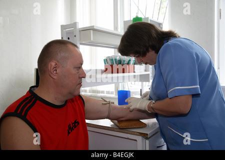 Lo screening del cancro alla tiroide centro di Gomel in Bielorussia Foto Stock