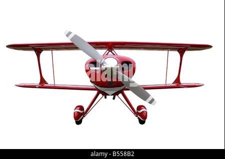 Biplano rosso tagliare Foto Stock