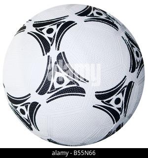 Bianco e nero / Calcio Calcio Foto Stock