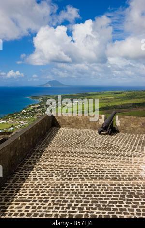 Brimstone Hill Fortress, Parco Nazionale di Brimstone Hill Fortress, Saint Kitts, Isole Sottovento, dei Caraibi Foto Stock