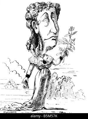 """Eugenie, 5.5.1826 - 11.7.1920, Imperatrice consorte di Francia 30.1.1853 - 4.9.1870, caricatura, 'il ramo d'Ulivo"""", Foto Stock"""