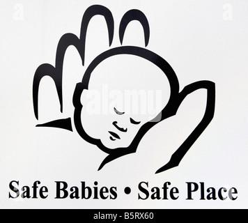 Baby, infantile, icona, canto, sicurezza, Luogo luogo sicuro, cassetta di sicurezza bambini Foto Stock