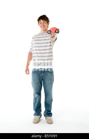 Ritratto di ragazzo adolescente Foto Stock