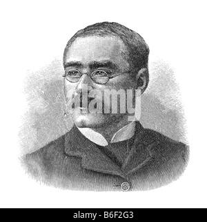 Joseph Rudyard Kipling, 30. Dezember 1865 Bombay - 18. Januar 1936 Londra Foto Stock