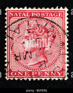 La regina Victoria del Regno Unito (1837-1901), francobollo, Natal