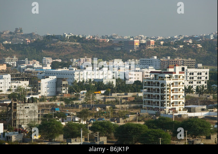 INDIA Andhra Pradesh, Hyderabad: Hitec City, panoramica del nuovo High Tech Town Foto Stock