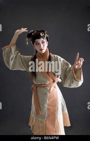 Interprete femminile in opera ritratto da vicino Foto Stock