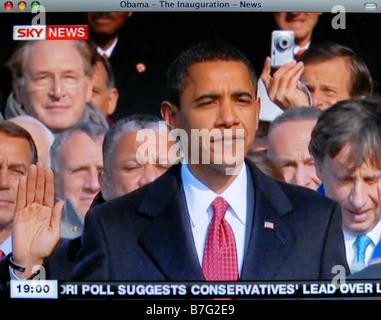 Il centro storico di inaugurazione di Barack Obama del 20 Gen 2009 Foto Stock