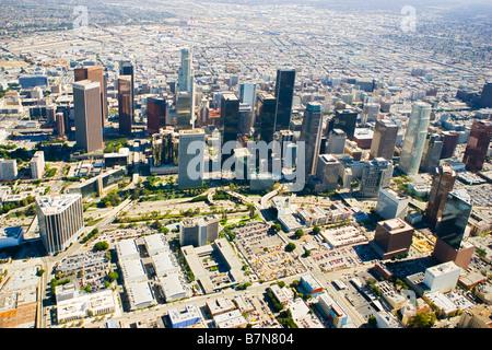 Il centro cittadino di Los Angeles vista aerea Foto Stock