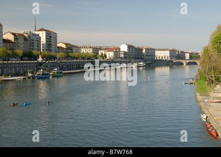 Il fiume Po, Torino, Piemonte, Italia