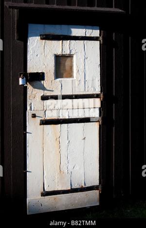 Porta del mulino a vento di Jill Clayton sulla South Downs vicino a Brighton Foto Stock