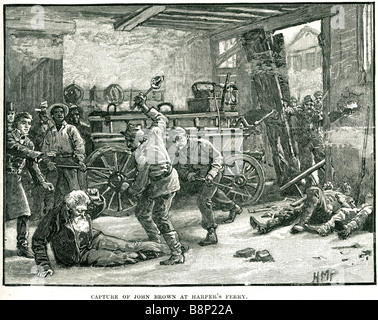 Catturare john brown Harper's Ferry 1859 Virginia schiavitù abolizionista Pottawatomie massacro