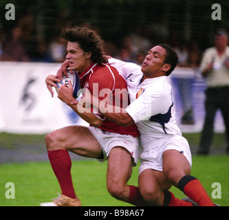 Il Portogallo v Francia il Rugby League Nazioni europee Cup Foto Stock