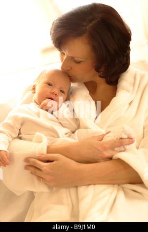 Madre con bambina Foto Stock