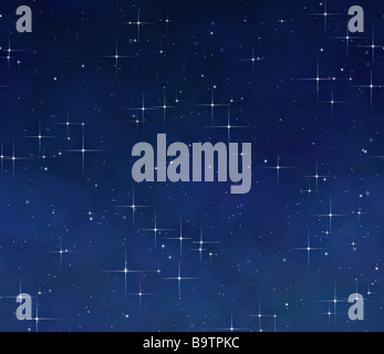 Grande immagine delle stelle nel cielo notturno Foto Stock