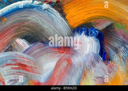 Extreme close-up di pennellate - eseguire colori - artigianato Foto Stock