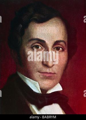 Lortzing, Albert, 23.10.1801 - 21.01.1851, del compositore tedesco, ritratto, secolo XIX, Additional-Rights-giochi Foto Stock