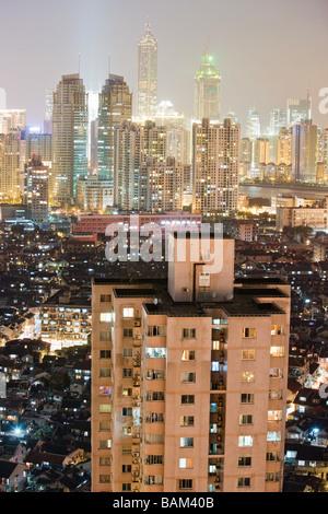 Paesaggio urbano di Shanghai Foto Stock