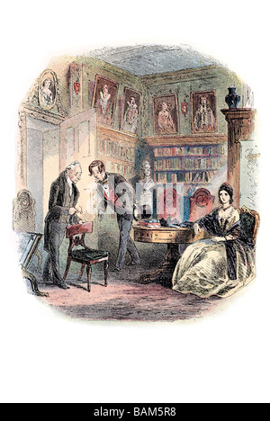 Il vecchio uomo di nome di tulkinghorn Bleak House è il nono romanzo di Charles Dickens pubblicato in venti rata Foto Stock