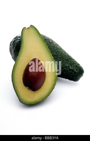 Fresco verde avocado Foto Stock