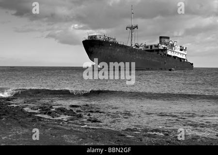 Los Marmoles naufragio a Lanzarote Foto Stock
