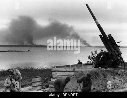 Eventi, Seconda Guerra Mondiale / La seconda guerra mondiale, guerra aerea, contraerei, Tedesco anti-aerei pistola Foto Stock