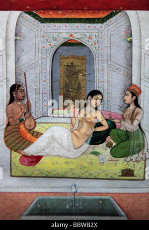 Germania Berlino Pergamon Museum di Mughal pittura in miniatura India