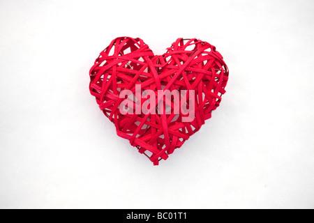 Valentino Rossi cuore sul bianco della neve Foto Stock