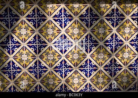Bella colorato portoghese piastrelle ornamenti u foto stock