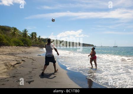 Sint Eustatius Oranje spiaggia di Oranjestad Foto Stock